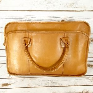 Clava American Brown Leather Laptop Bag